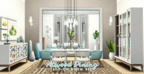 Atwood Dining Room Set For The Sims 4