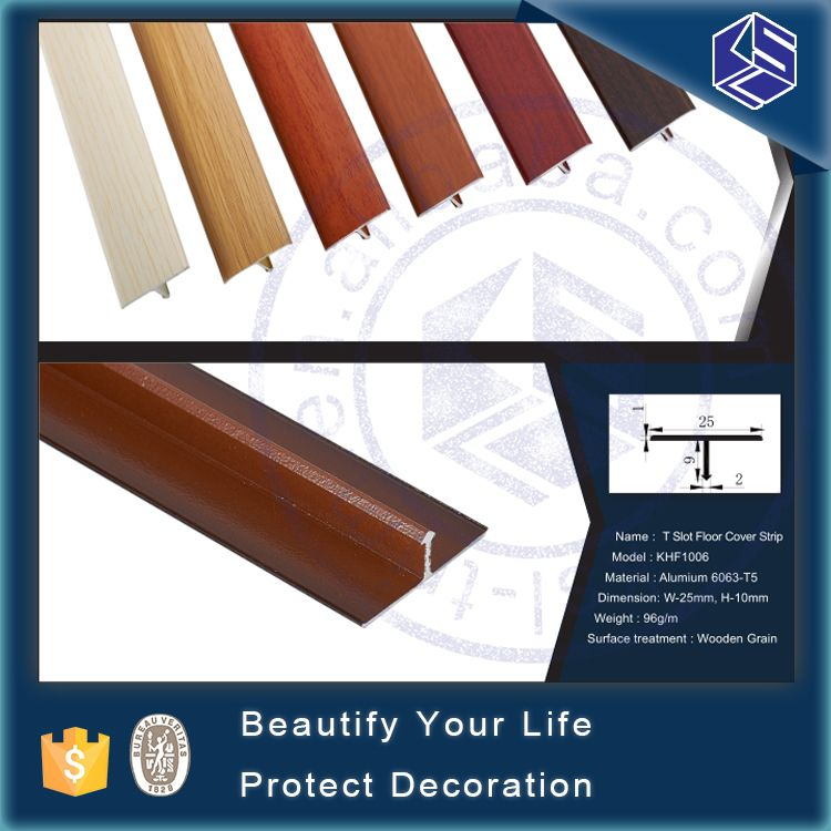 Flexible Transition Strips Aluminum T Shape Metal Wood Flooring Edge Trim Transition Strips T Shaped Floor Trim
