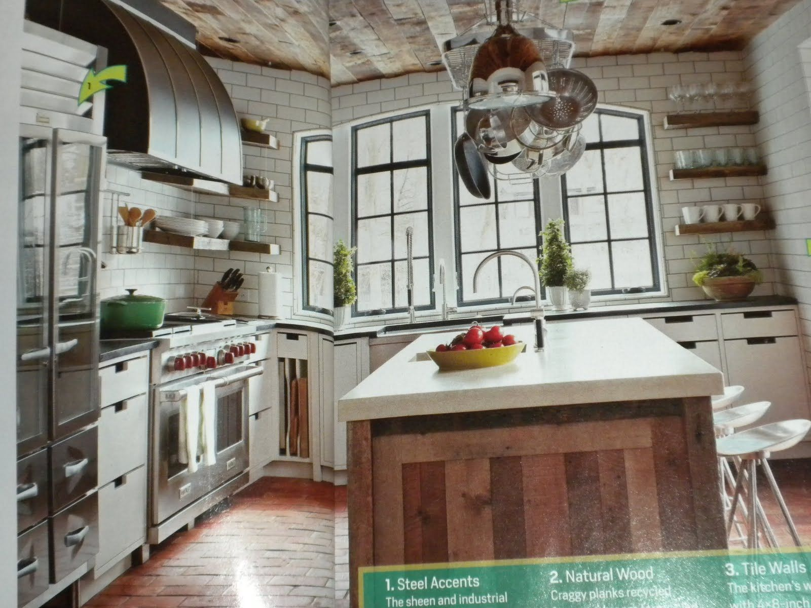 Rustic Chic Interior Design Some Rustic Modern Day Kitchen Floor