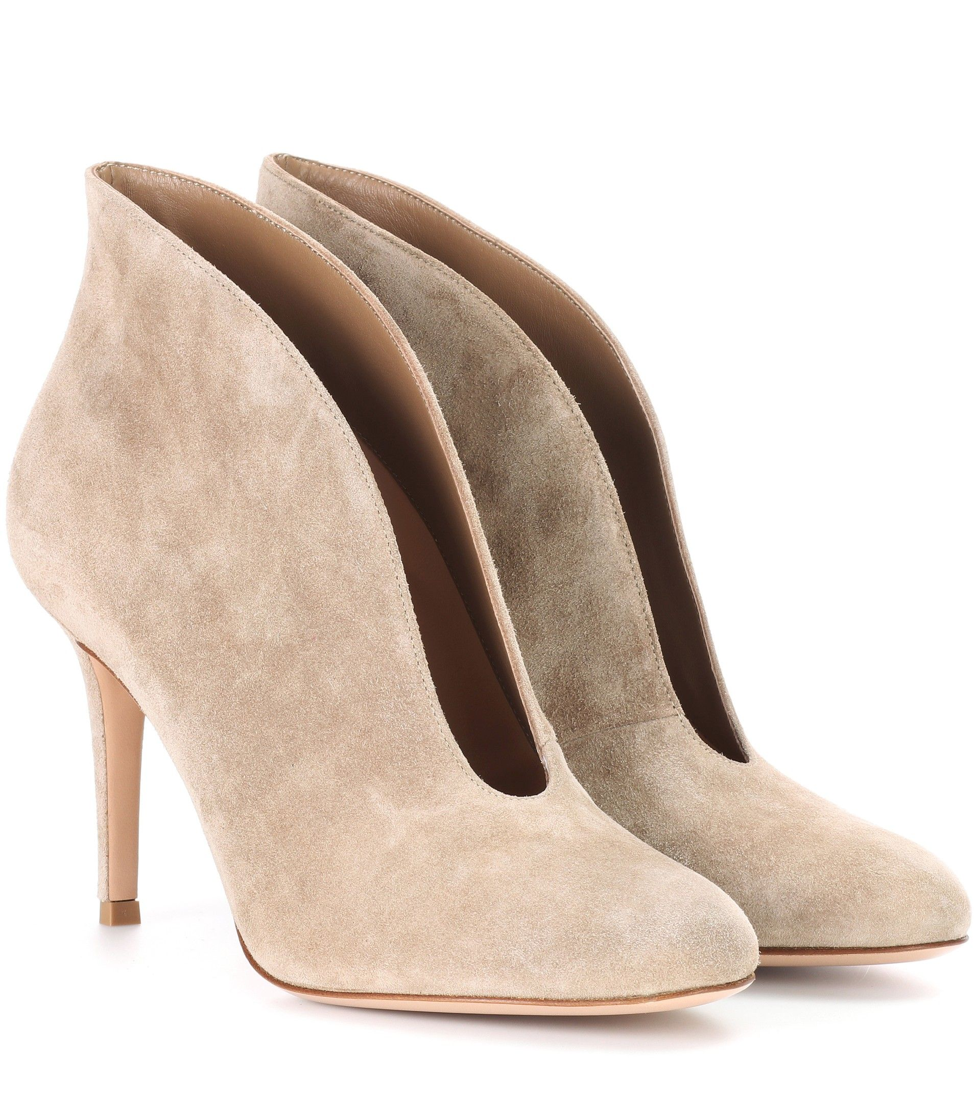 Gianvito Rossi Vamp 85 suede ankle boots Octxm