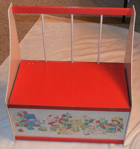 1980 S Vintage Strawberry Shortcake Chest Toy Box Bench Rare Must See Vintage Strawberry Shortcake Strawberry Shortcake Toy Boxes