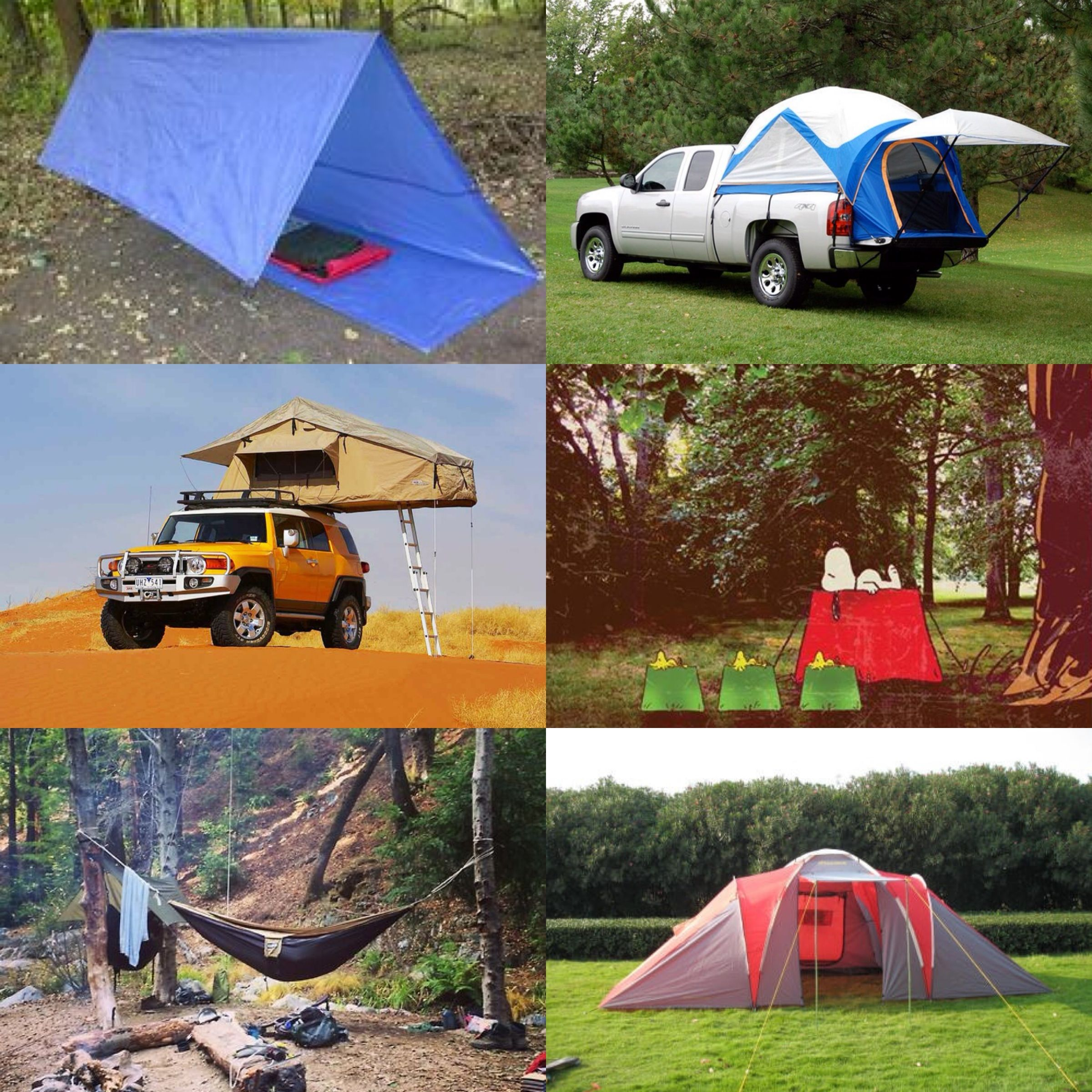 Tents & Whatu0027s your tent camping style? A simple tarp hammock roof tent ...