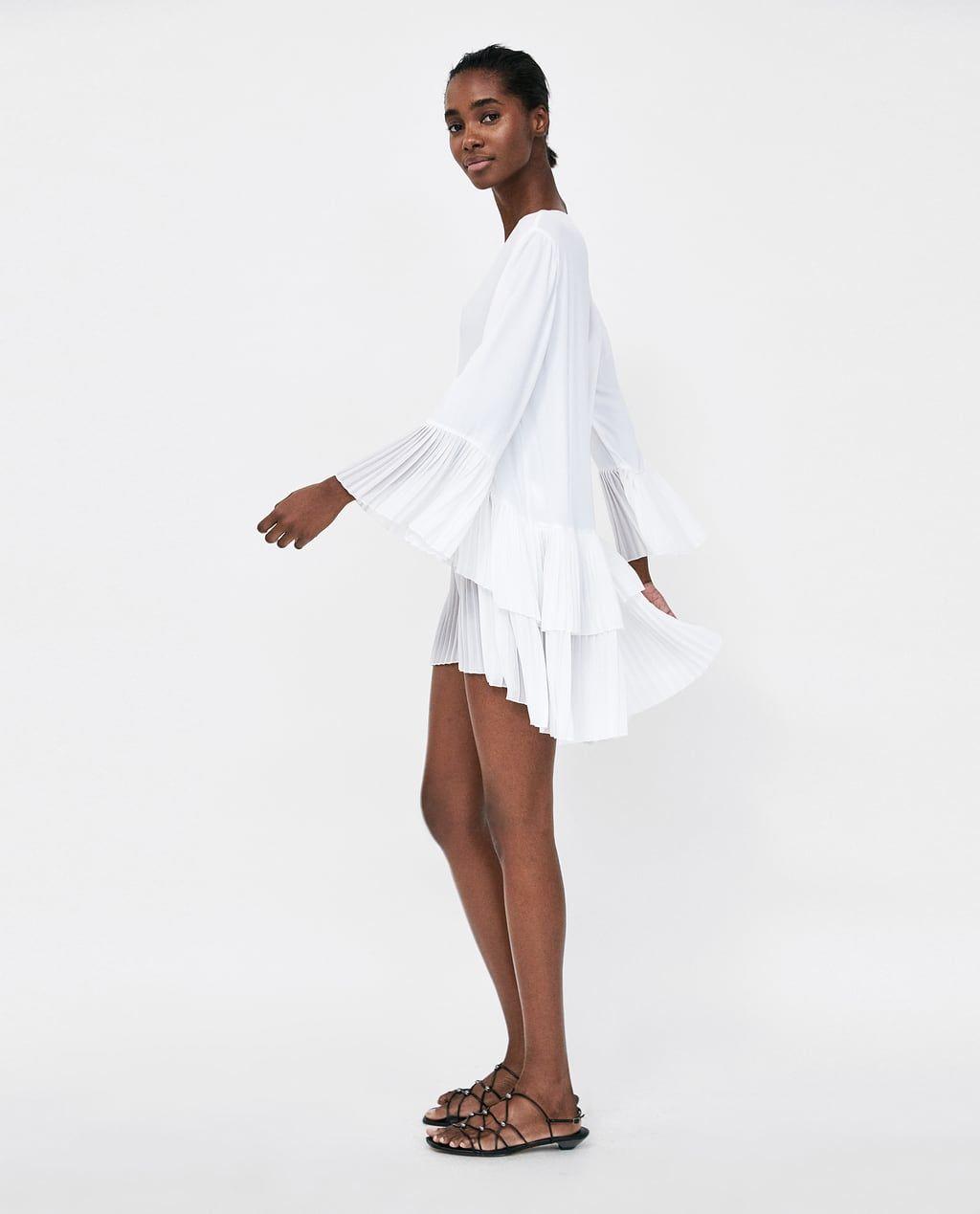 bild 3 von plissierte bluse von zara | kleider damen