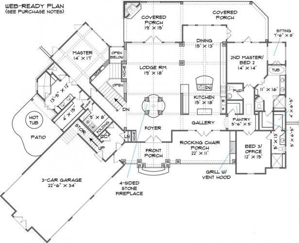 Awesome Cascade First Floor House Plans Custom Home Blueprints
