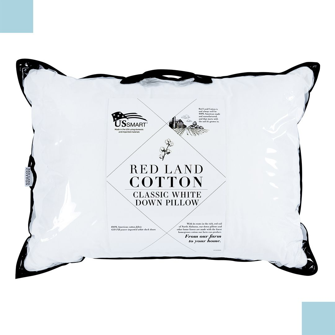 Soft Luxurious Our Redlandcotton Down Pillow Is Made With The Finest Alabama Grown Cotton Suitabl Red Land Cotton Traditional Pillows Bedding Essentials