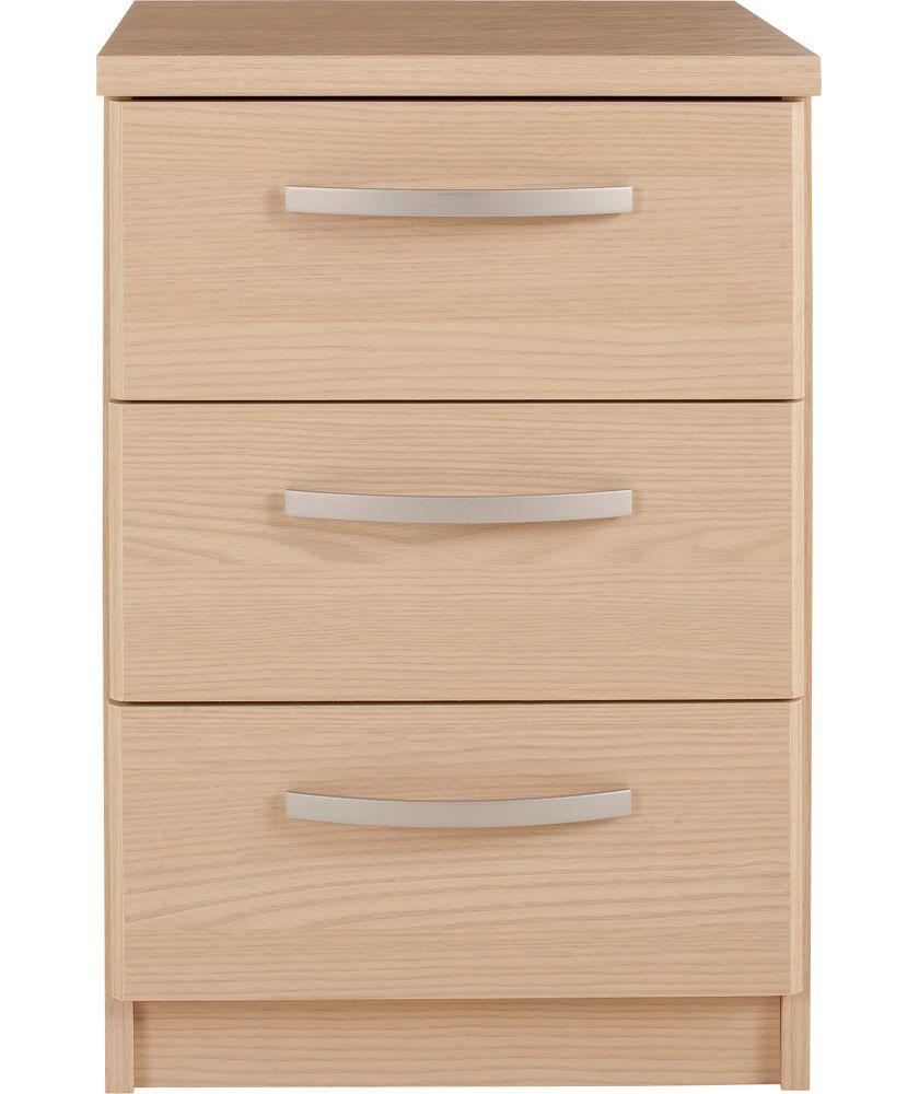 Buy New Hallingford 3 Drawer Bedside Chest - Light Oak Effect at Argos.co. - Buy New Hallingford 3 Drawer Bedside Chest - Light Oak Effect At