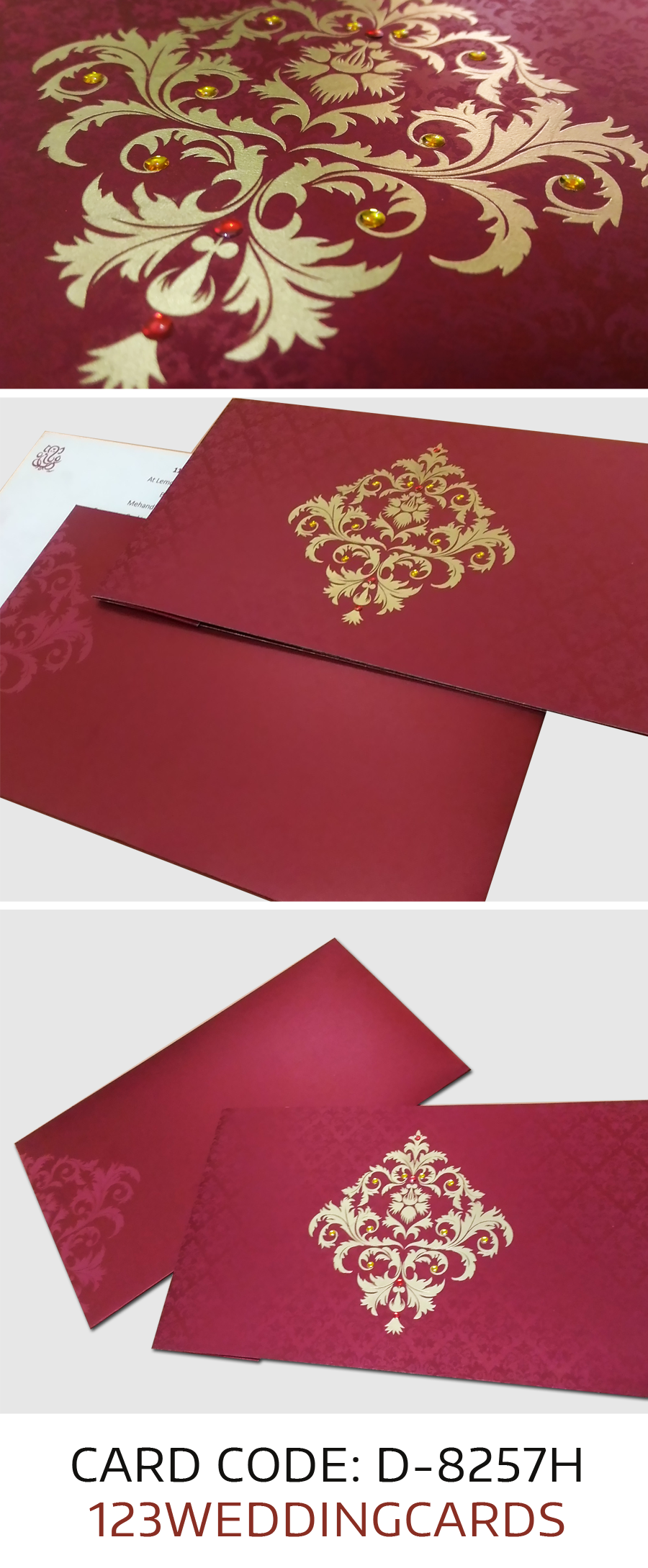 christmas inspired wine red designer #invitation for your big day ...