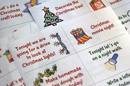 Advent Activity Cards Free Printable Advent Calendar Activities Advent Activities Christmas Advent Calendar