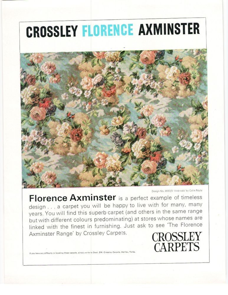 Crossley Halifax Florence Ambrosia Floral Axminster Carpet