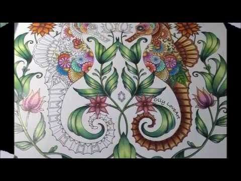 How To Color A Seahorse From Lost Ocean Coloring Book Oceano Perdido Lost Ocean Coloring Book Coloring Books Lost Ocean