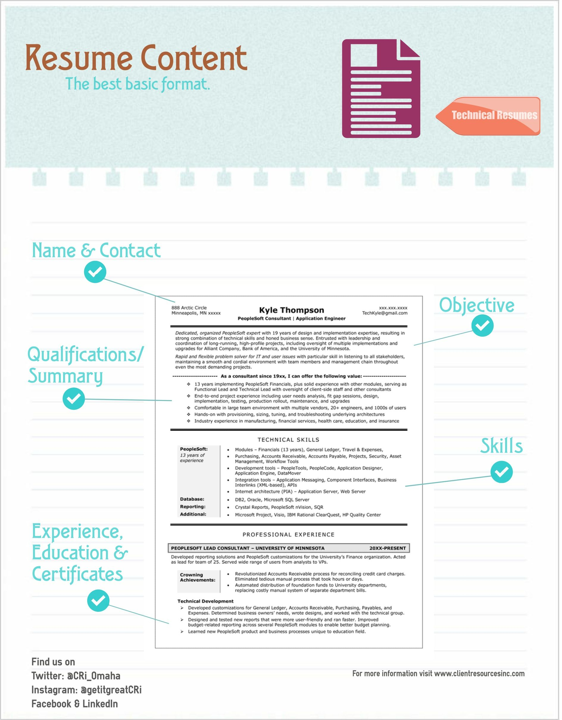 Technical Resume Content The Best Basic Format What To Include
