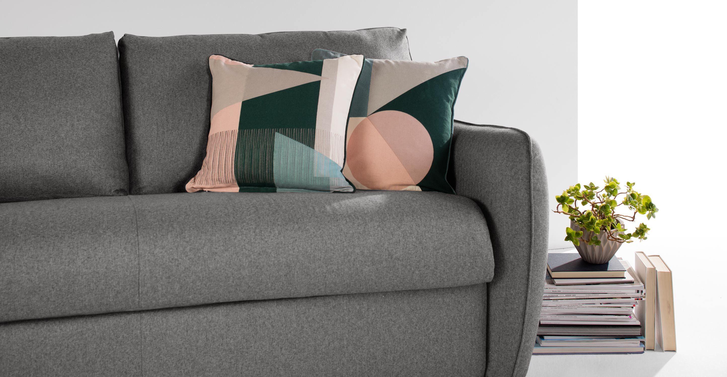 Wunderbar Breites Sofa Dekoration Von Jefferson Schlafsofa, Tweed In Grau ▻ Neues