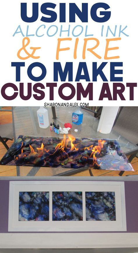 *Alcohol ink is extremely versatile. This is an awesome and budget-friendly way to make some unique art for your walls. And there's fire involved! Bonus! -   25 unique diy art