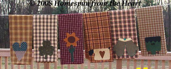 PatternMart.com ::. PatternMart: The Tea Towels Applique Pattern 2 PM