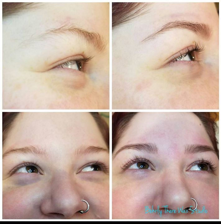 Before and after lash lift lash tint brow wax and brow ...