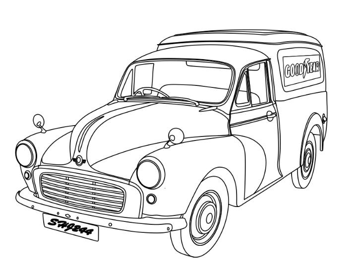 My Morris Minor Van With Images Morris Minor Morris Car Cartoon