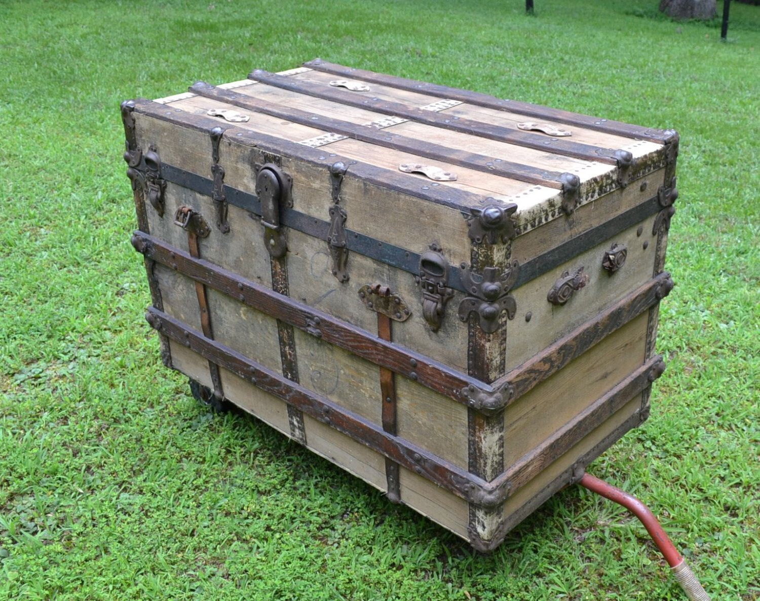 Uncategorized Vintage Wood Trunk vintage antique wooden trunk whittle and bag co knoxville tennessee coffee table rustic storage panchosporch