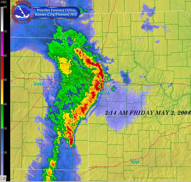 A Bow Echo Is A Term Describing The Characteristic Radar Return From A Mesoscale Convective System That Is Shaped Like Kansas City Storm Chasing Severe Weather