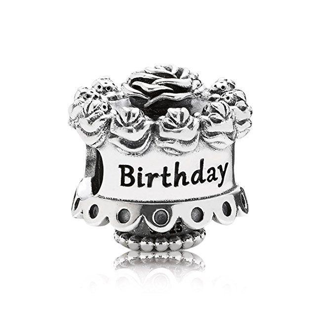 Pandora Women's 925 Sterling Silver Happy Birthday Bead hs5cEKo3