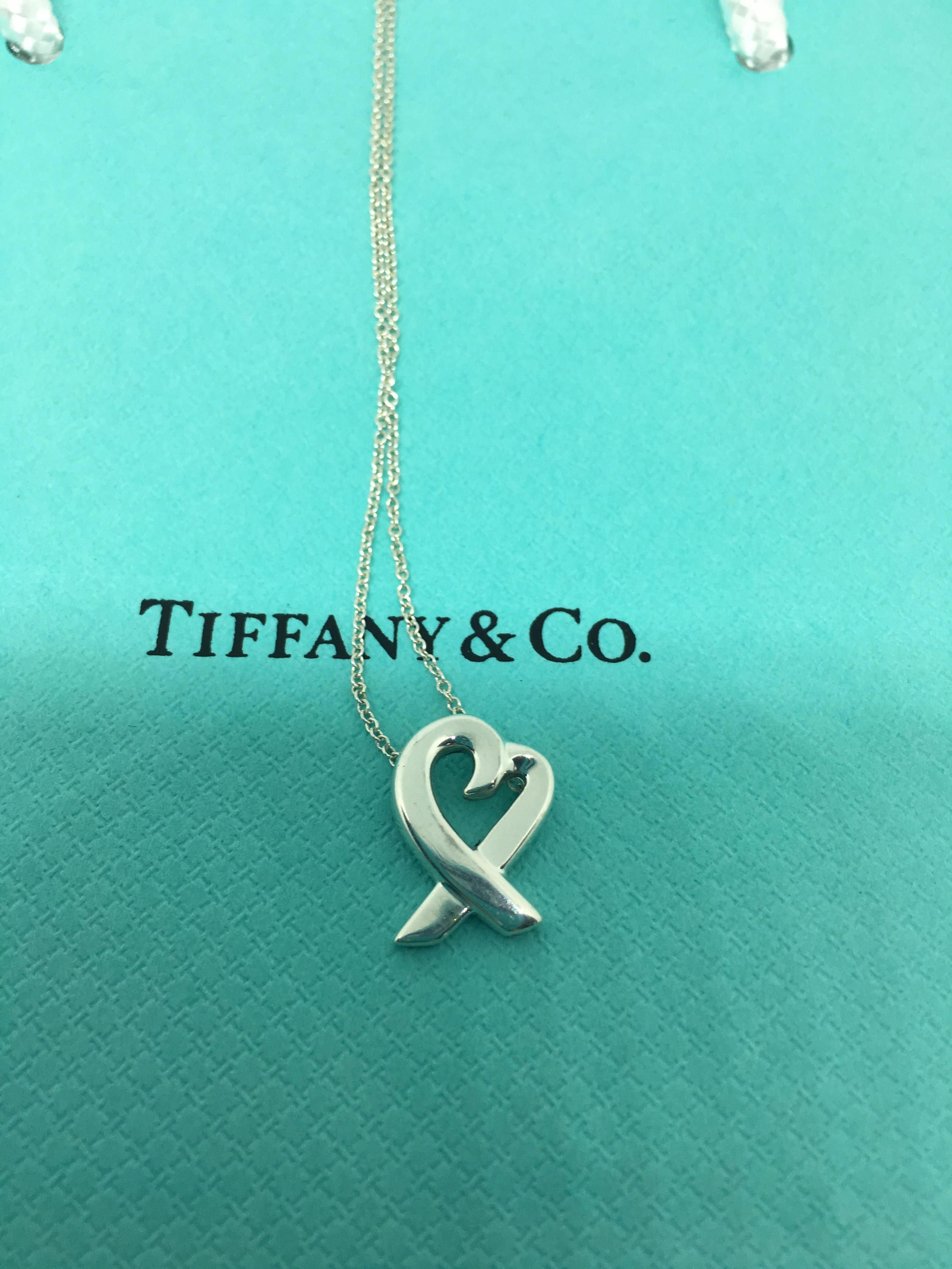 Tiffany and co paloma picasso mini loving heart necklace 925 paloma picasso mini loving heart necklace 925 silver nothing says aloadofball Gallery