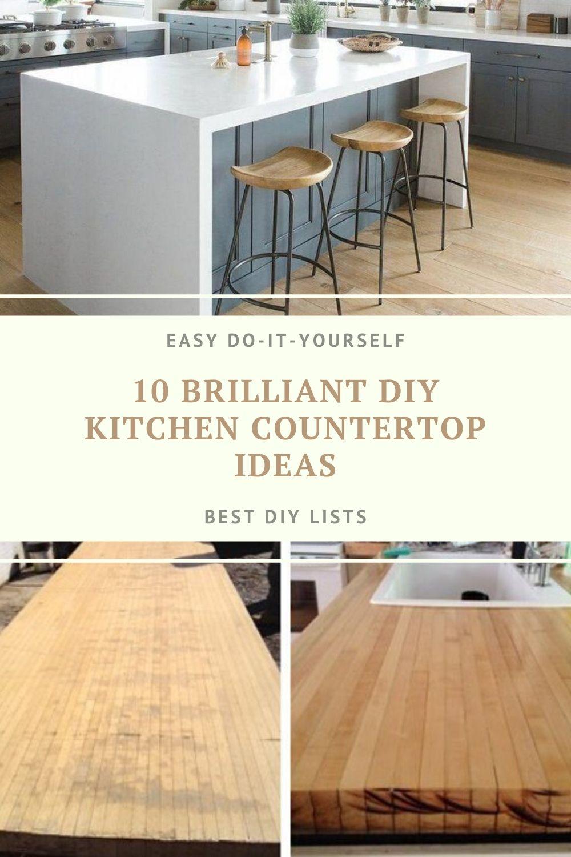 Diy kitchen countertop ideas in 2020 diy kitchen