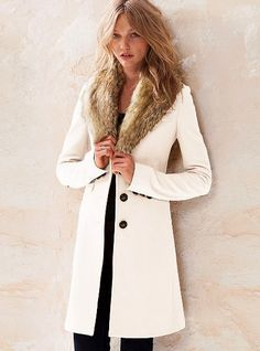 I have off white wool coat and am adding a vintage fox fur collar ...
