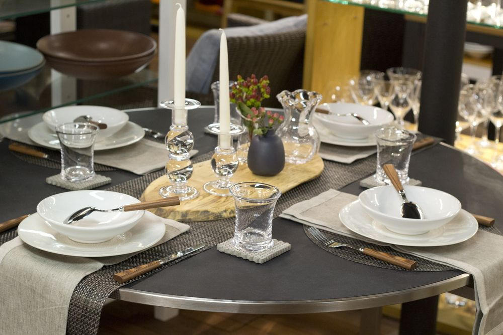 Weekly Table Setting Concrete and Carbon & Weekly Table Setting: Concrete and Carbon | Table settings Tables ...