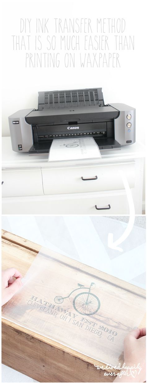 Mit einem Drucker ein wunderschönes und einfaches Fototransfer selbermachen. | How To Use A Printer For Ink Image Transfers- A New, Easier Method Without Wax Paper!
