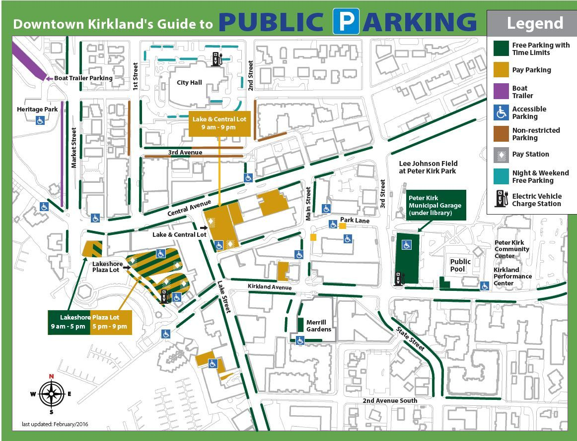 Parking Map Downtown Kirkland KIRKLAND Pinterest City