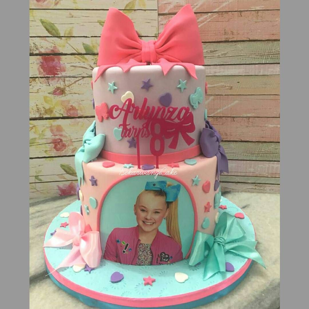 Jojo Siwa 2-tier Birthday Cake | Jojo Siwa Party | Jojo ...