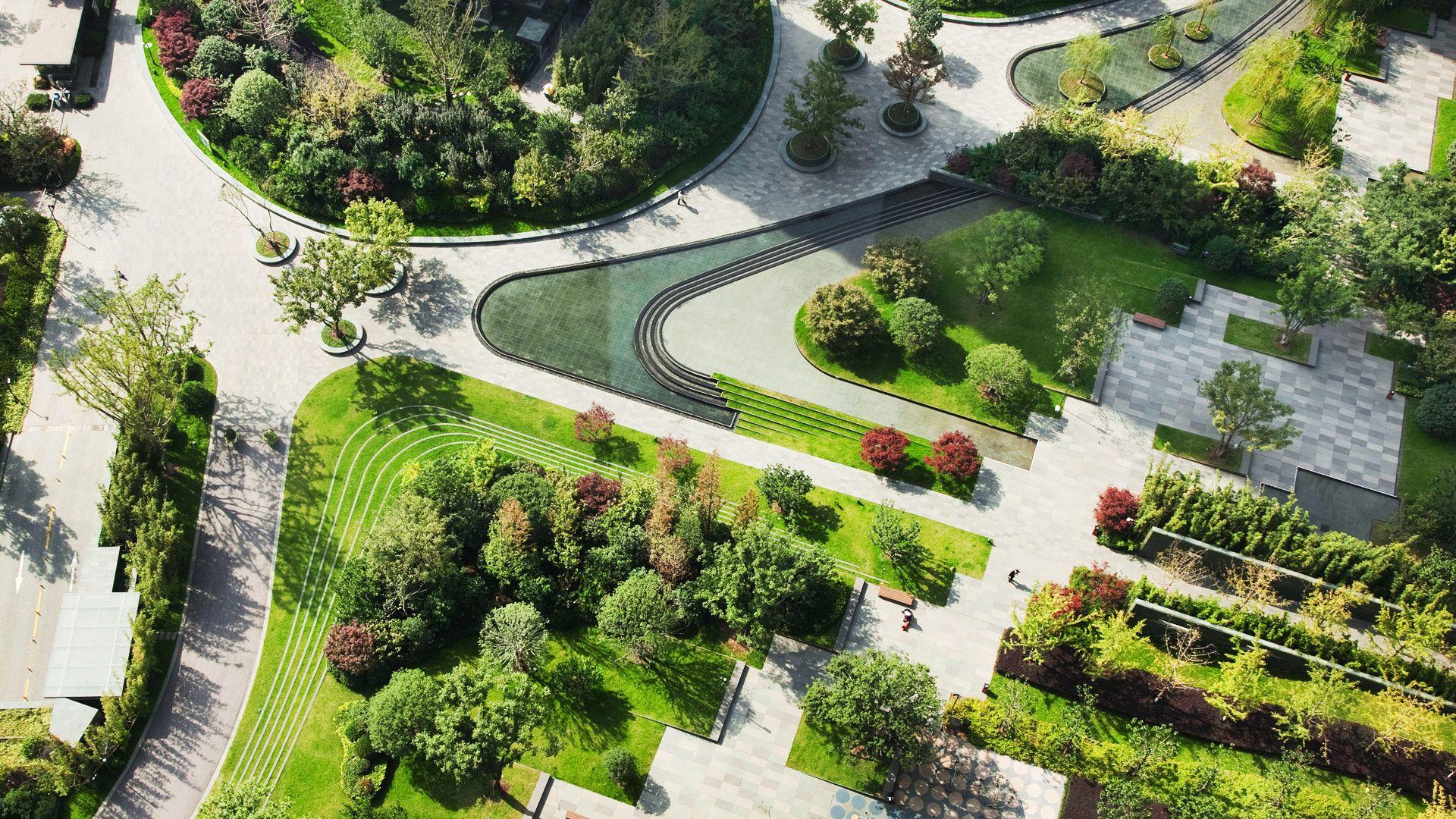 Botanical Garden Plan Drawing