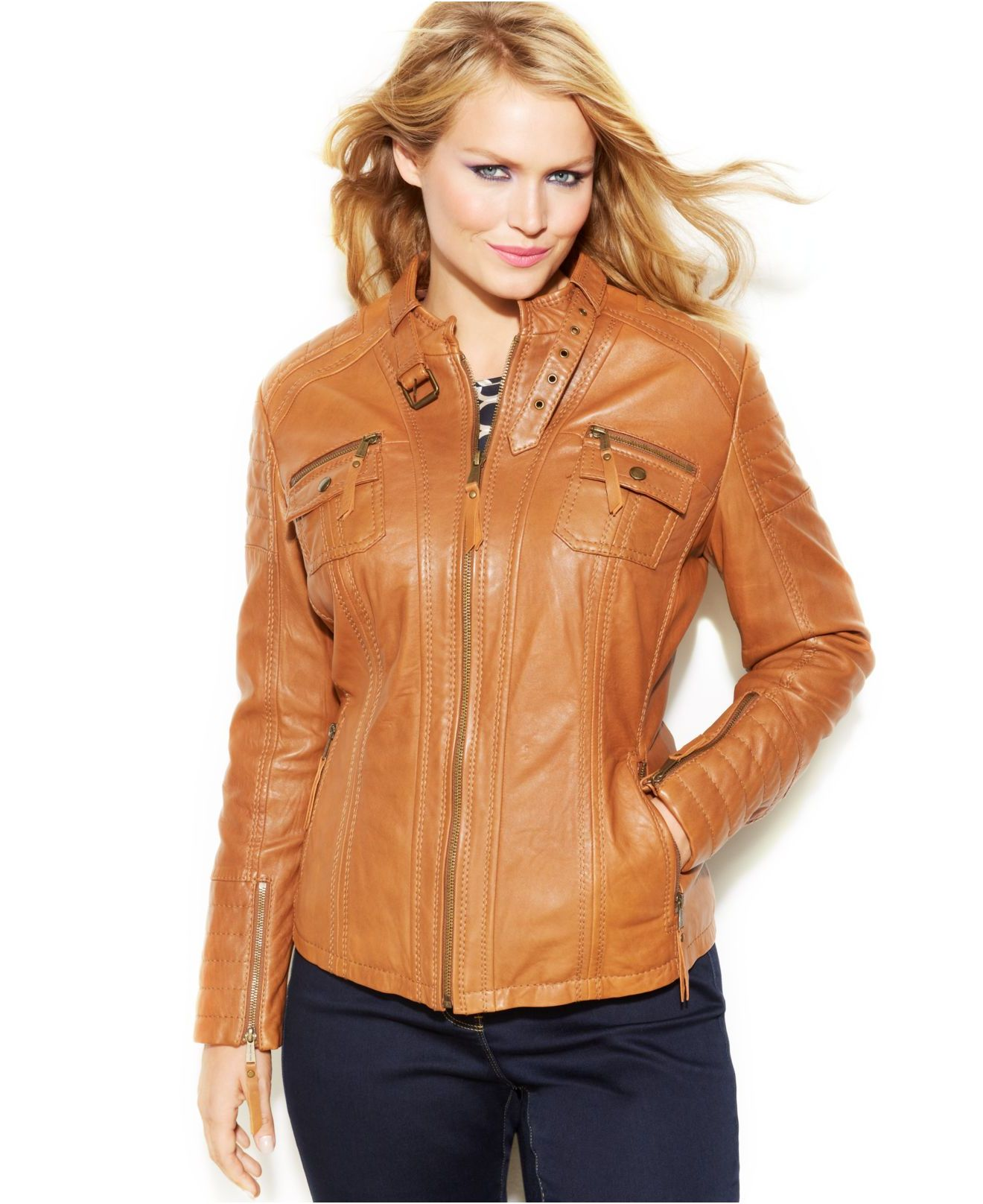 Womens Leather Motorcycle Jackets Plus Size Leather