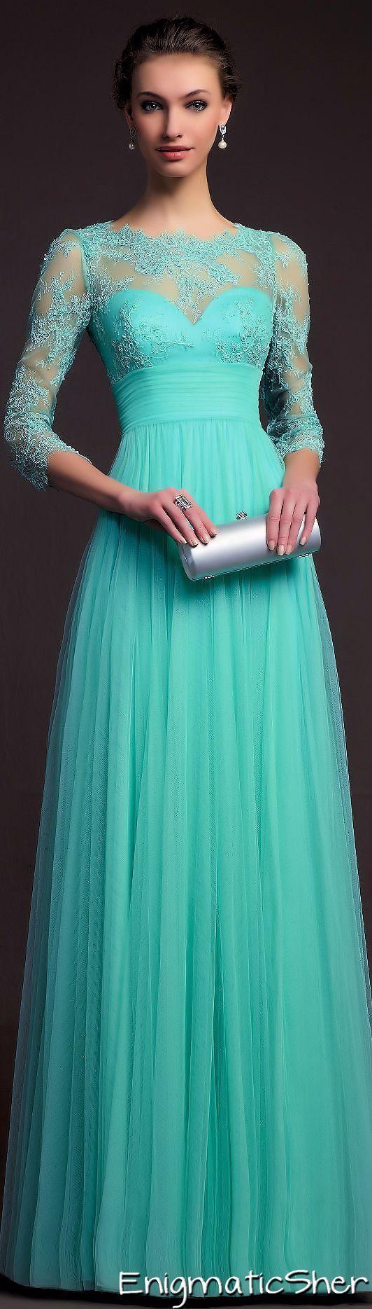 designer teal dress | Vêtements | Pinterest | Teal dresses, Teal and ...