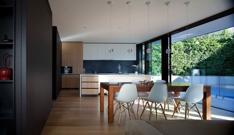 Arredare cucina piccola, ambiente open space con sala da ...