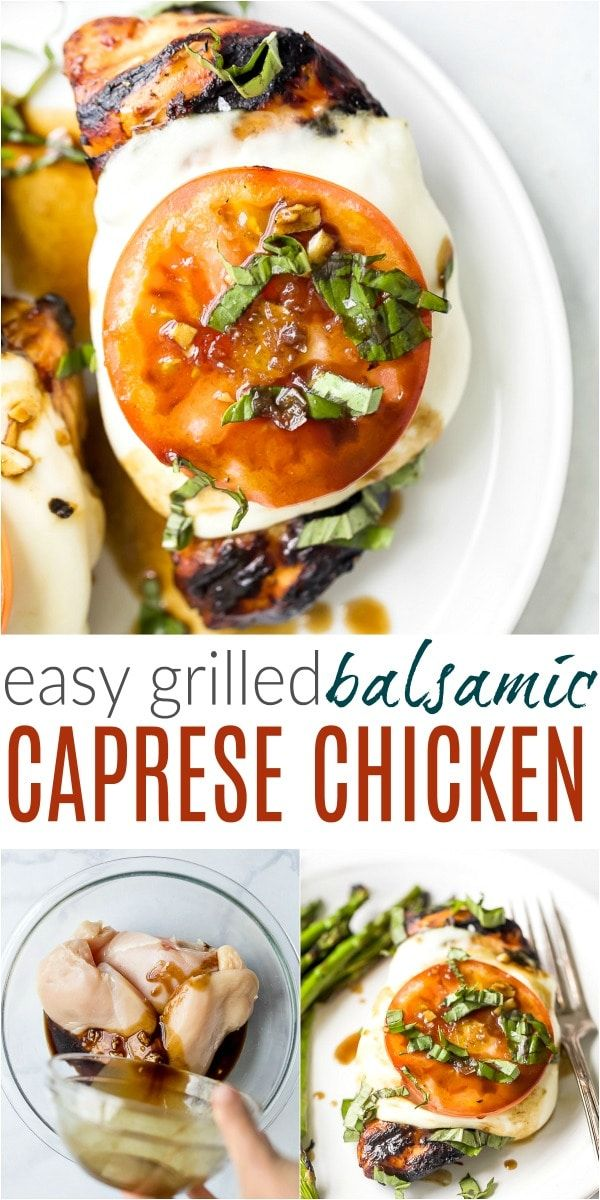Easy Grilled Caprese Balsamic Chicken images
