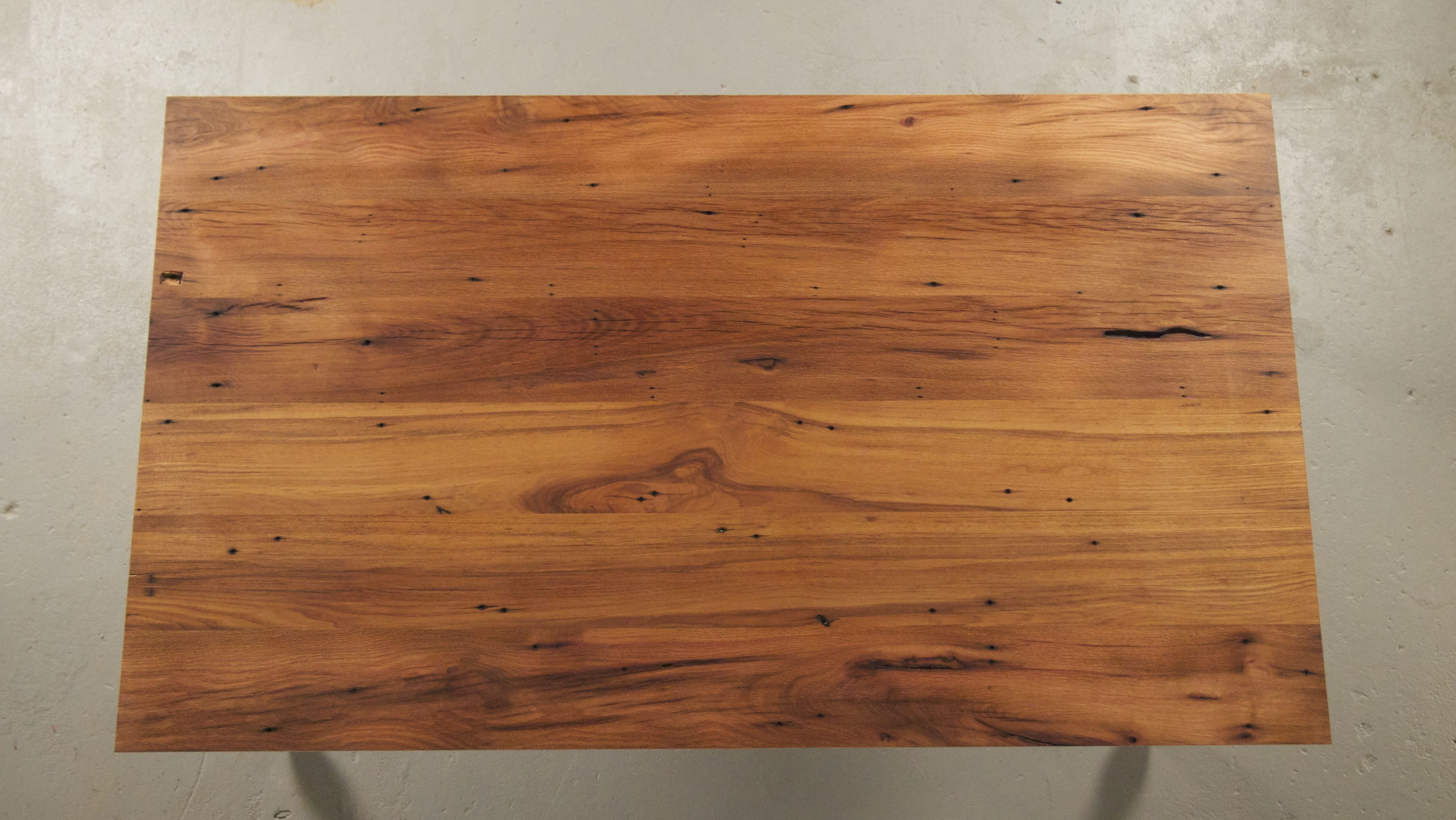 Wooden Table Top View ~ Top view of reclaimed wood table oak customize your