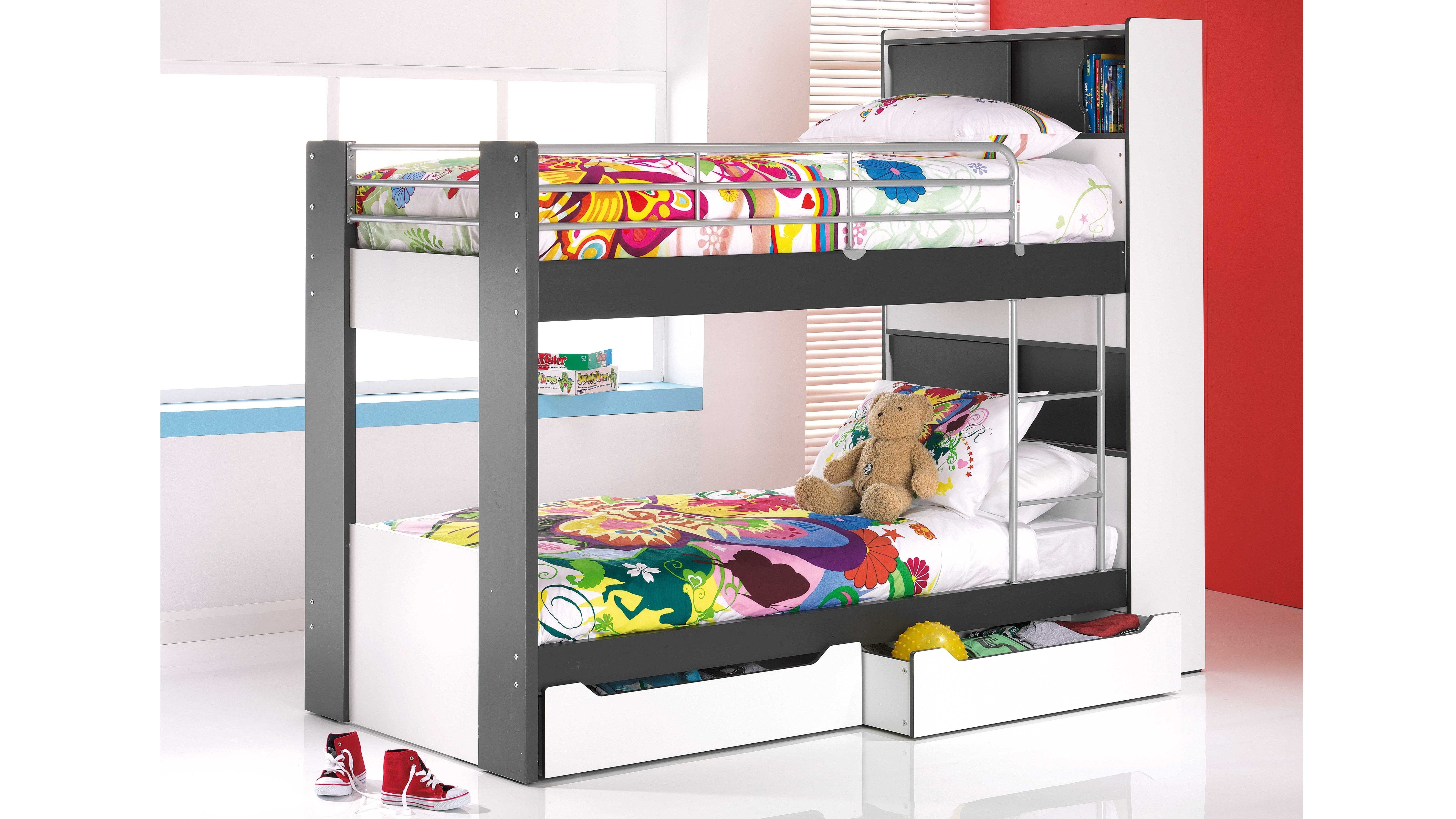 Montana Single Bunk Bed with Storage Single bunk bed