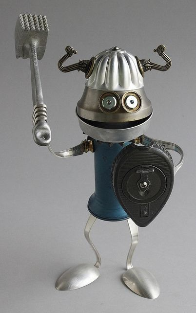 Found Object Robot Assemblage Viking Sculpture By Brian Marshall | Flickr - Photo Sharing!