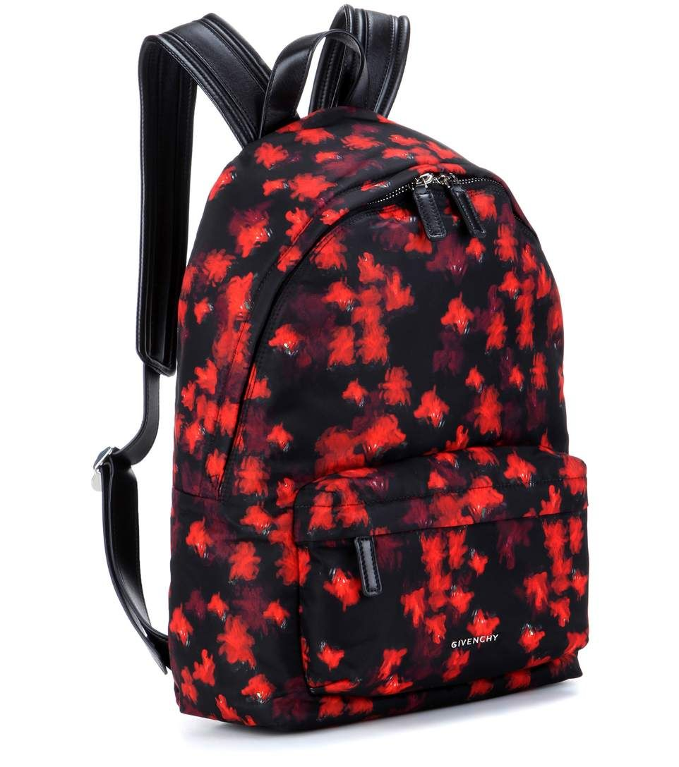 Multicoloured printed backpack