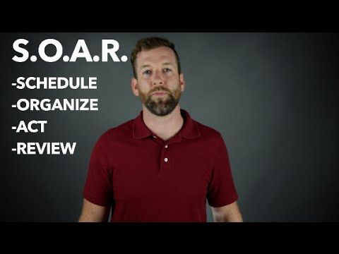 Learn the S.O.A.R. method of planning. Schedule, Organize, Act, and Review. Follow this method and you'll find your grades improving and that you follow through with your commitments.