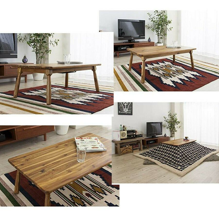 Electric Heater Table Kotatsu Natural Wooden Japanese Home Style