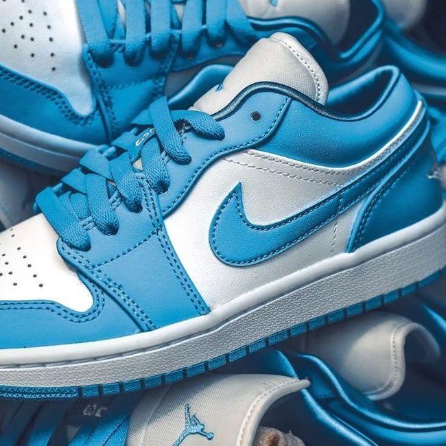 Air Jordan 1 Low UNC | Chaussures de sport mode, Chaussure nike ...