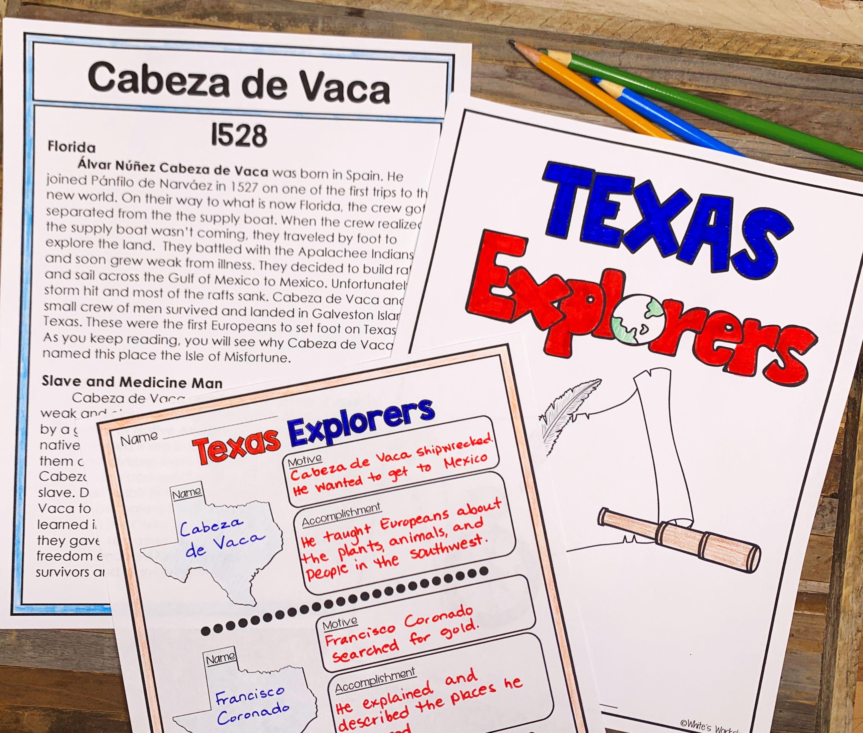 Texas Explorers   Informational text [ 2558 x 3014 Pixel ]