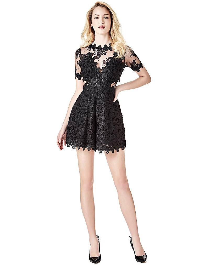 cc4ad678ce17 LACE JUMPSUIT TRANSPARENT DETAILS on Guess.eu
