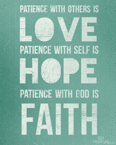High Quality Love, Hope, Faith, And Patience Quote