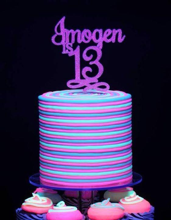 glow in the dark birthday cake