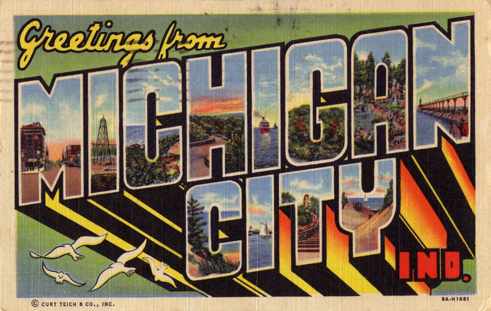 Greetings from michigan city indiana indiana postcards greetings from michigan city indiana m4hsunfo