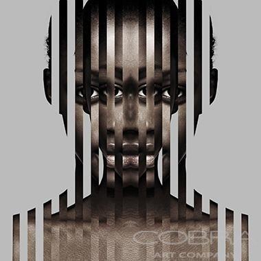 LAYERED EMOTIONS WHITE Fashion & Faces Photography on plexiglass Cobra Art Company