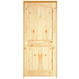 Knotty pine prehung interior doors solid knotty pine right reliabilt knotty pine slab interior door common x actual x at lowes 2 panel arch top knotty pine interior door in planetlyrics Images