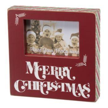 """Merry Christmas'' 4'' x 6'' Wooden Box Frame"